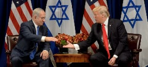 Netanyahu ahead of his talks with Trump