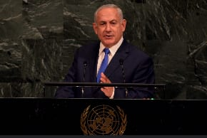 "Benjamin Netanyahu addresses the UN General Assembly…""our great allies Down Under"""