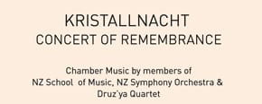 Nov-09   Wellington:   Concert commemorating Kristallnacht