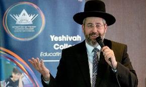 Israeli Ashkenazi Chief Rabbi visits Yeshivah