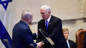 In Knesset address, Pence declares embassy will move to Jerusalem next year