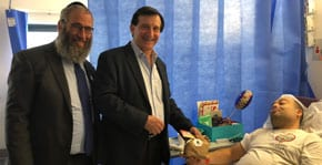 MP joins rabbis in sharing the joy of Purim