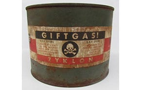 Replica Zyklon B cans on sale