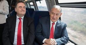Netanyahu travels first leg of Jerusalem-Tel Aviv high speed train's maiden voyage
