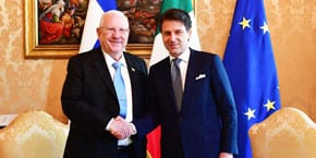 President Rivlin meets Italian PM Conte, continues Vatican and Rome visit