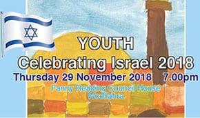 Youth celebrating Israel