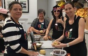 BJE  staff cook up Hamantaschen