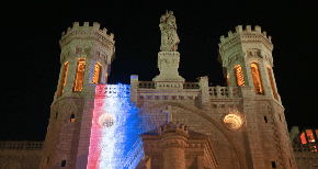 The city of Jerusalem stands in solidarity with France following the disaster at the Notre Dame Cathedral in Paris