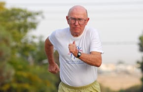 He survived Bergen-Belsen and the 1972 Munich Olympics and still competes
