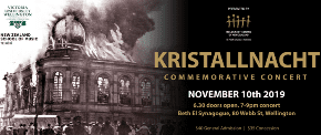 Kristallnacht concert to be held at NZ synagogue for the first time