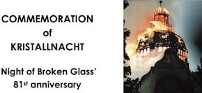 Nov-10 Perth:   Commemoration of Kristallnacht