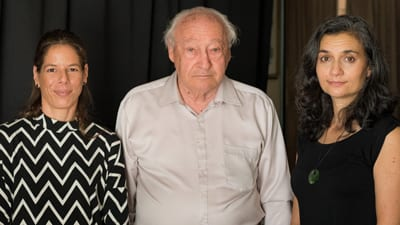Hadas Palevsky (State Zionist Council of Queensland), Survivor George Stein, Sheree Trotter (Shadows of Shoah)