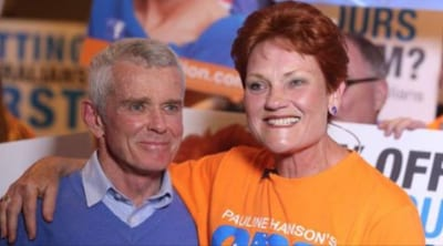 Senators Malcolm Roberts and Pauline Hanson
