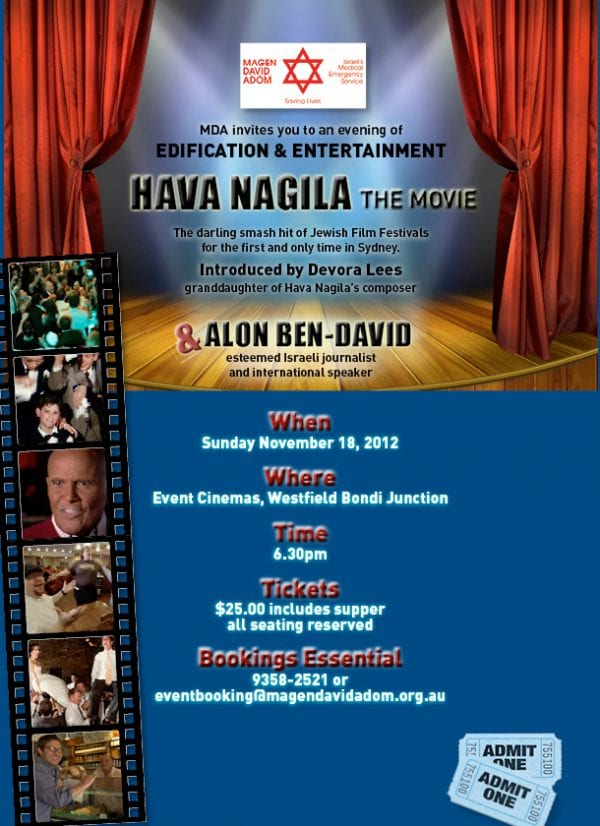 Nov-18 Sydney: Hava Nagila – The Movie » J-Wire