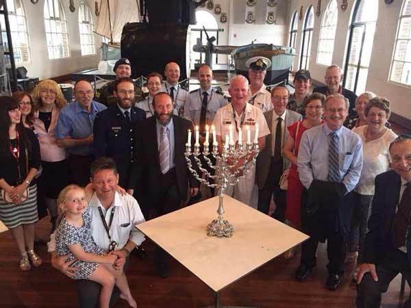 Rabbi Yossi Friedman celebrates Chanukah with the ADF