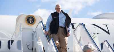 Jewish-American aid worker Alan Gross arrives at the Joint Base Andrews military facility in Maryland on Dec. 17, 2014, the day he was freed after spending five years as a prisoner in Cuba. Credit: White House photo by Lawrence Jackson.