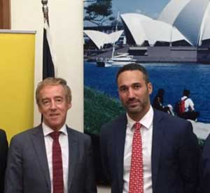 Australian ambassador to Argentina Noel Campbell at the conference with ECAJ public affairs director Alex Ryvchin