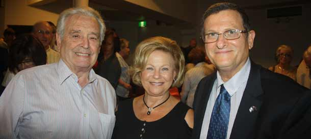 Joe Barda, Racheline Barda and Ambassador Shmuel ben-Shmuel