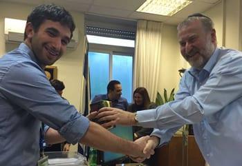 Ben with Israeli's Attorney-General Avichai Mendebit