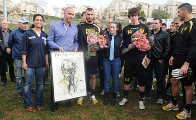 Beitar fans meet the players