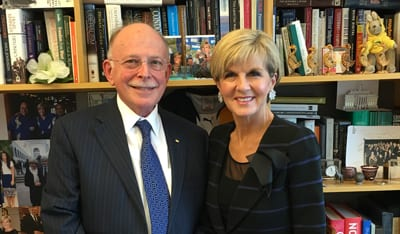 Mark Leibler and Foreign Minister Julie Bishop