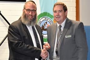 Rabbi gets updated