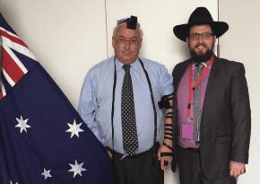 Michael Danby and Rabbi Shmueli Feldman