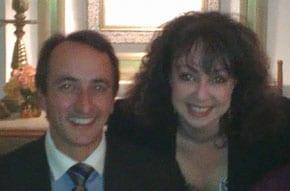 Australian ambassador to Israel Dave Sharma with Lynda Ben-Menashe