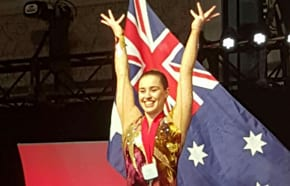 Australian gymnastic second in world event