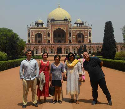 Dr Arpad Hornjak-Hungary, Niké Wentholt-the-Netherlands, Prof-Suzanne Rutland-Australia, Dr Anuradha Bhattacharjee-India, Dr Ran Shauli-Israel at Humayun's Tomb, Delhi