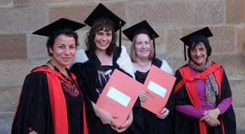 Dr Avril Alba, Anne Thompson, Lindsay Thorpe and Professor Suzanne Rutland