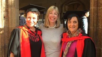 Dr Avril Alba, Suzanne Hallas and Professor Suzanne Rutland
