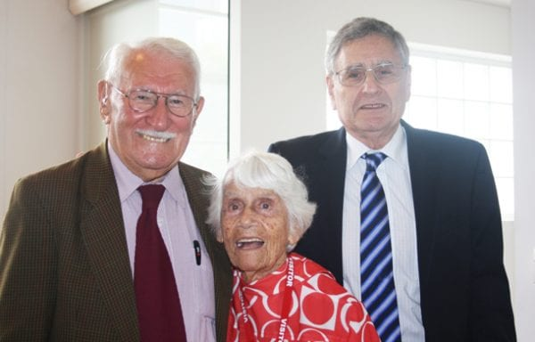 Eddie Jaku, Louise Rosenberg, Norman Seligman, Sydney Jewish Museum CEO