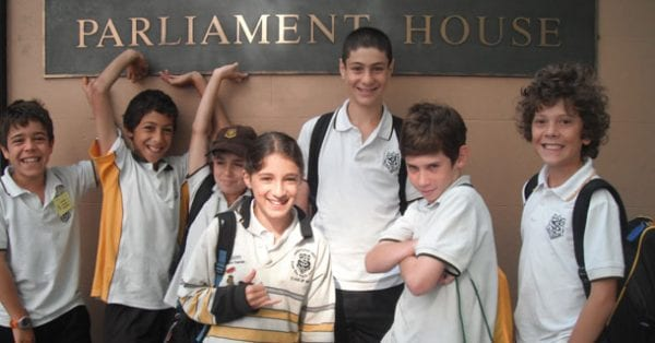 Back: Kfir Ross, Keanu Harris, Jess Shainfeld, Joshua Suppree Front: Lauren Jaque, Jake Edelman, Ariel Pacanowski