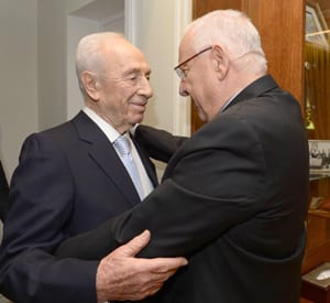 Shimon Peres and Reuven Rivlin