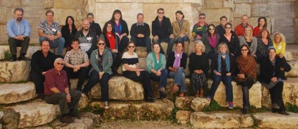 Australian educators visir the Valley of Communities at Yad Vashem, Jerusalem
