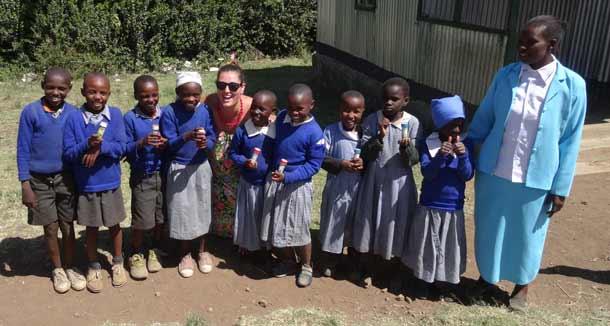 Genna Raadnan in Kenya