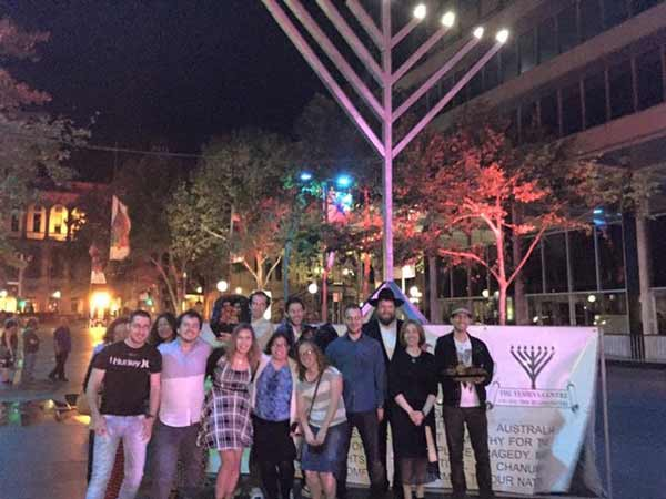 Menorah in Martin Place
