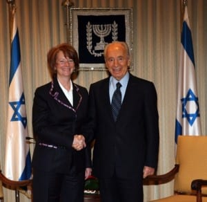 Julia Gillard With President Shimon Peres