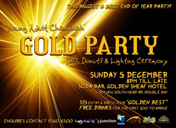 The biggest party of the year for young Jewish Sydney adults.