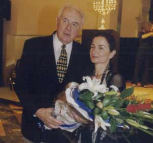 Gough Whitlam and Jana Vyrthlik
