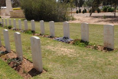 ANZAC graves in Be'er Sheva. One bears a Magon David  photo: Henry Benjamin