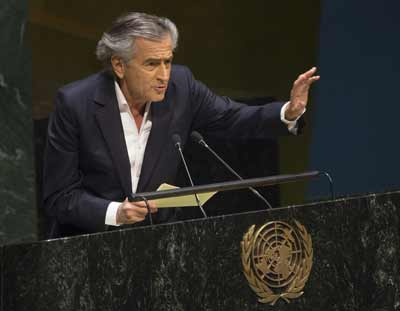 On Jan. 22, French philosopher and writer Bernard-Henri Levy addresses the U.N. General Assembly meeting on anti-Semitism. Levy's message—essentially, that anti-Zionism, the denial of the right of national self-determination to the Jewish people, is the principal pillar upon which today's anti-Semitism rests—did not get through to the crowd, writes columnist Ben Cohen. Credit: UN Photo/Eskinder Debebe.