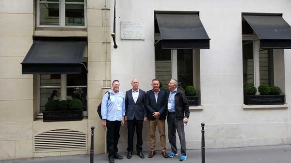 Dr Ron Weiser, Israeli Minister of Construction and Housing MK Yoav Gallant, Josh Schwartz, Jewish Agency and Dr Danny Lamm, President ZFA