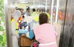 Rambam Health Care Campus patients are transported to the facility's fortified underground hospital. Credit: Rambam Health Care Campus.