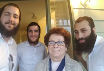 The three Rabbis visit Sally in Denmark