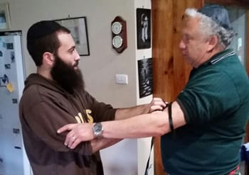 Tfillin with Jeffrey Trevinen in Hexham Vic