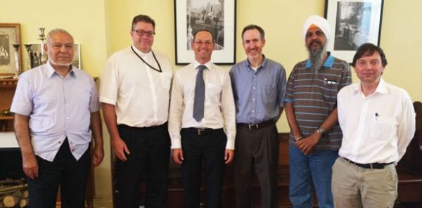 Imam Riad Galil OAM, Bishop Philip Huggins, Mr Anton Hermann, Rabbi Shamir Caplan, Mr Jasbir Singh Suropada, Mr Michael Wells