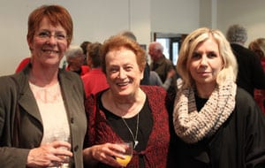 Wellington Mayor, Celia Wade-Brown, Founding Director of NZ Holocaust Centre, Inge Woolf, Director of NZ Holocaust Centre, Simone Gigliotti