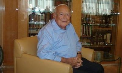 Isi Leibler at home in Jerusalem